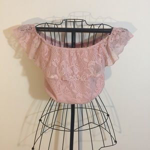 Rose Lace Crop Top
